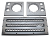 XS Front Grille & Headlamp Surround Set - Silver