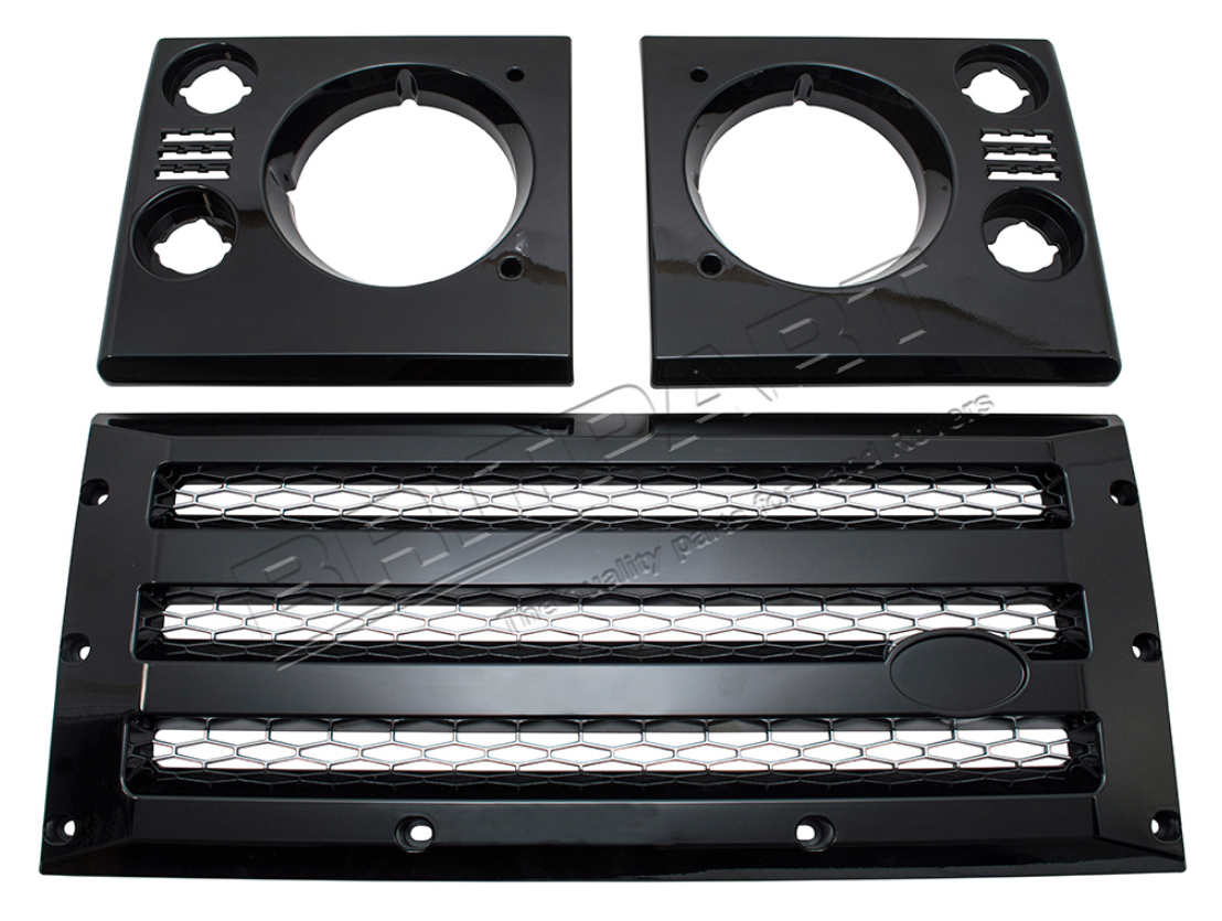 XS Front Grille & Headlamp Surround Set - Black